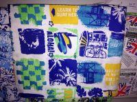 polyester hawaiian fabric printed