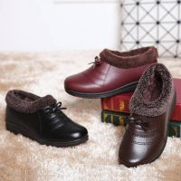 lady fashion leather casual shoes