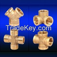 brass female tee  water pipe Accessories