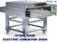 STONE BASE Pizza Conveyor Oven Electric working