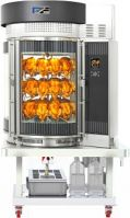 Cylindrical Chicken Rotisserie Grill Oven