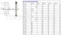hydraulic oil level indicator with level marks, oil level indicator