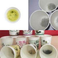 paper cup with tea making materials PLA corn fiber filter biodegradable