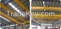 2016 HOT SALE 20 ton electric single girder overhead bridge crane with