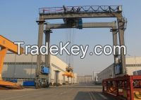 Motor Drive rubber tyre gantry crane Safe and Reliable for sale