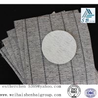 Free sample stripe nonwoven insole for Casual shoes material