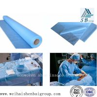 PE breathable membrane laminited with PP nonwoven fabric