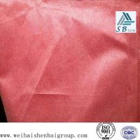 Red non woven thermal bonded fabric  fusible interlining for garment