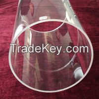 high purity clear processed or resize large quartz glass tube