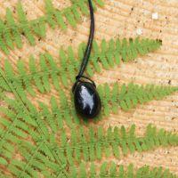 Drop shungite pendant for EMF protection