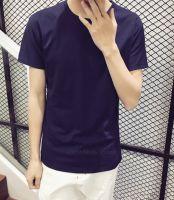 Men's Pure Color O-neck T-shirts Inventory Wholesale