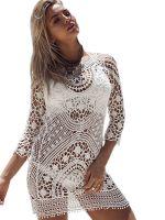 Sexy Women Hollow Out Beach Dress Maxi Dress