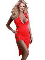Sexy Red White Deep V Women Dress