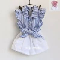 Girl's 100% Cotton Woven Blouse/Pants