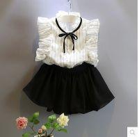 Girl's 100% Cotton Woven Blouse/100% Polyester Woven Pants (1 Set)