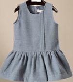 Girl's 85% Polyester 15% Wool Woven Skirt
