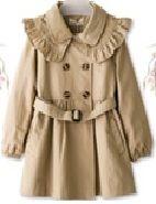 Girl's 100% Polyester Woven Coat