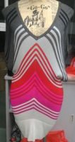 Ladies' 100% Rayon Knitted Stripe Skirt