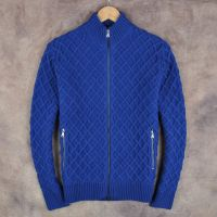 Men's 100% Cotton Knitted fisherman(cable) Pattern Cardigan