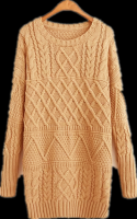Ladies' 100% Cotton Knitted Fisherman(Cable) Pattern pullover