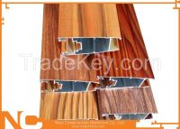 Wood grained aluminum profiles