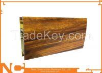 Wood grained aluminum profiles