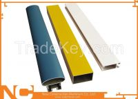 Powder coated aluminum profiles