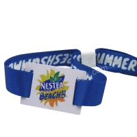 Custom Fabric RFID Wristbands with disposable fastener for event