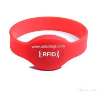 High Quality Hitag2 Waterproof Bracelet RFID Custom Silicone Wristband