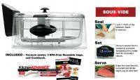 Clarity Sous Vide Smart Cooker Slow Cooker with Seal Vacuum Sealer