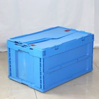 Standard Sizes Fodable Plastic Tote Boxes with Lids Collapsable Design