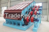 Dual frequency Linear vibrating screen for mining ore
