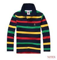 Boy's Long Sleeve Stripe Stretch Polo