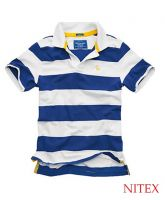 Boy's Short Sleeve Stripe Stretch Polo