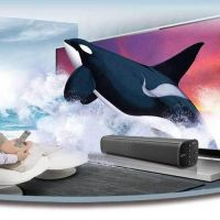 Sound Bar for TV, 20W Wireless Bluetooth Computer Speaker Soundbar, Bluetooth Home Theater TV Speaker, AwesomeWare Surround Sound Bar for TV, PC, Cellphone, Tablets Projector and Wireless Devices