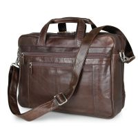 Genuine leather bag for 13.3, 15.6, 17.3 inch laptops