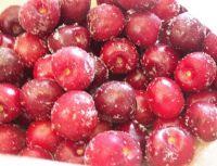 frozen fresh red cherry