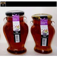 Pure honey in jar