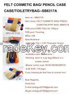FELT COSMETIC BAG/ PENCIL CASE  CASE/TOILETRYBAG--SB6317A