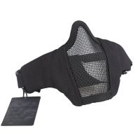 "6"" Foldable Half Face Mesh Mask Military Style Comfortable Adjustable Tactical Lower Face Protective Mask"