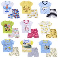 High Quality Short-Sleeve 5Pieces Baby Bodysuit Set Import Baby Clothes