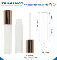 Shiny Gold Cap 6ML Transparent Lip Gloss Bottle tube