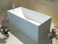 Solid surface bathtub Man-made stone Resin Free standing Tub
