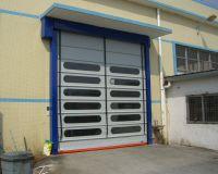 Automatic pvc rapid stacking door
