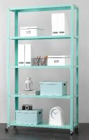 5-Tier Rolling Metal Bookcase, Multiple Colors