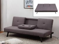 fabric sofa with fold-down center back - Gray