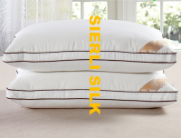 Luxious pure mulbery silk pillow , silk pillow , soft and comfortable silk pillow , natual silk pillow