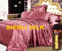 Most luxcious jacquard silk sheet set , Best quality mulberry silk jacquard sheet set