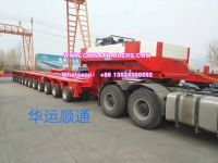 Goldhofer Hydraulic Multi Axles Modular Vehicle Truck Trailer Low Loader Flatbed Trailer