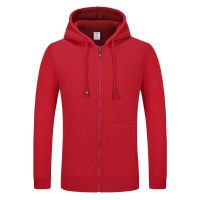 Manufacture custom solid casual zipper up hoodie sweat shirt